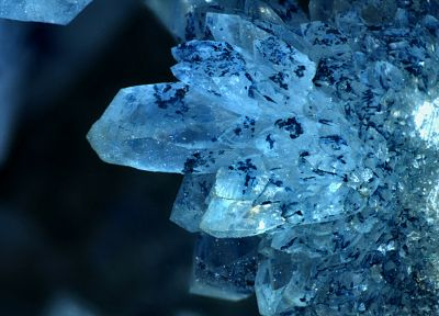 blue, crystals, macro, minerals - related desktop wallpaper