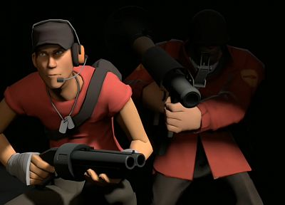 Scout TF2, Team Fortress 2, Soldier TF2 - related desktop wallpaper