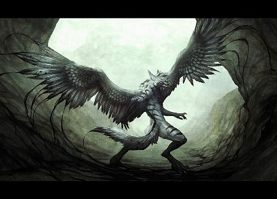 wings, monsters, fantasy art, digital art, artwork - random desktop wallpaper