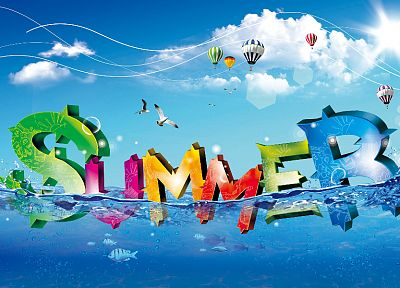 design, summer, typography - random desktop wallpaper