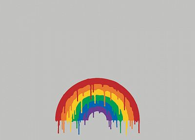 minimalistic, rainbows, simple background, drip, drips - random desktop wallpaper