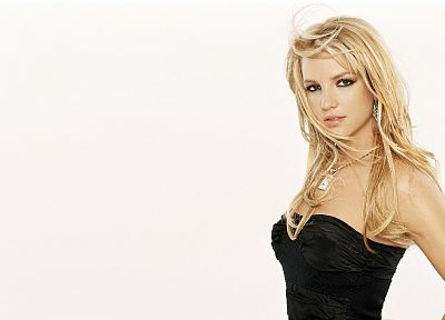 blondes, women, Britney Spears, simple background - related desktop wallpaper