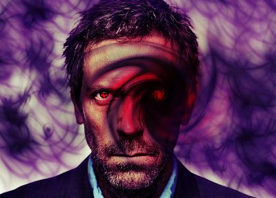 Sharingan, Gregory House, crossovers - desktop wallpaper