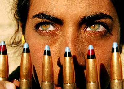 eyes, yellow eyes, ammunition, faces - desktop wallpaper