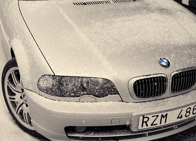 winter, snow, BMW, cars - random desktop wallpaper