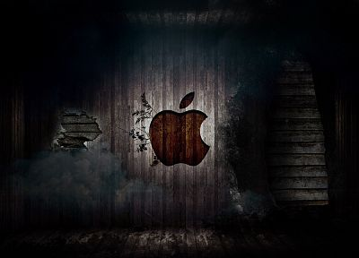 Apple Inc., grunge, logos - random desktop wallpaper