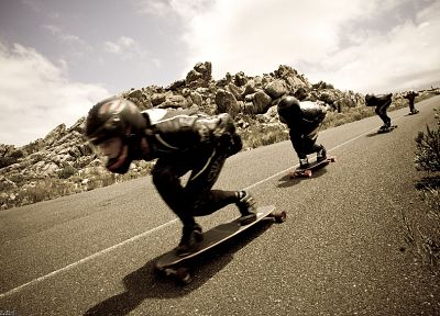 sports, longboard, downhill - desktop wallpaper
