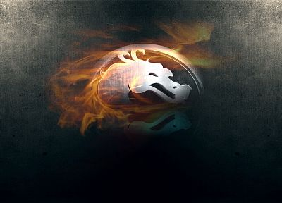 flames, fire, Mortal Kombat logo - related desktop wallpaper
