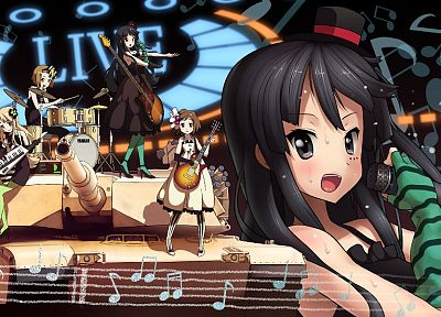 K-ON!, guitars, Akiyama Mio, anime girls - random desktop wallpaper
