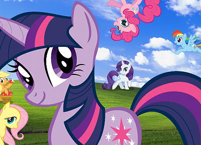 Windows XP, My Little Pony, ponies, Twilight Sparkle, My Little Pony: Friendship is Magic - random desktop wallpaper