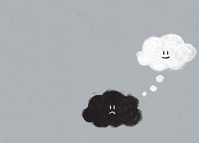 paintings, clouds, happy, sad, thoughts - random desktop wallpaper
