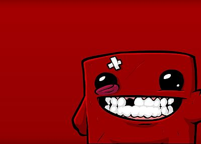 video games, Super Meat Boy - desktop wallpaper
