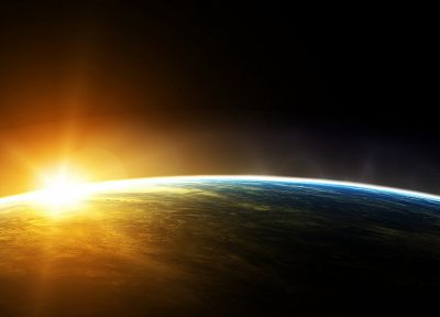 Sun, outer space, planets, Earth - related desktop wallpaper