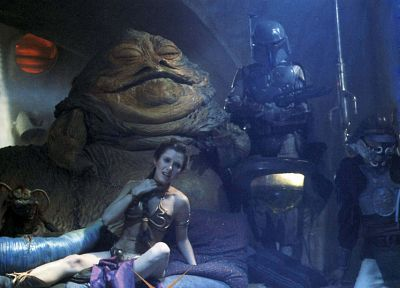 Star Wars, Boba Fett, Leia Organa, Jabba the Hutt - desktop wallpaper