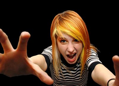 Hayley Williams, Paramore, women, celebrity, orange hair - random desktop wallpaper