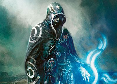 Magic: The Gathering, magic, cloaks, artwork, Jace Beleren - random desktop wallpaper