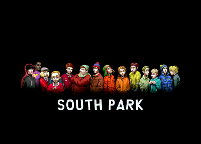 South Park, black background - desktop wallpaper