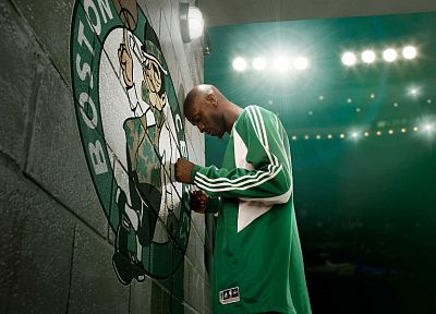 sports, NBA, basketball, Kevin Garnett, Boston Celtics - random desktop wallpaper