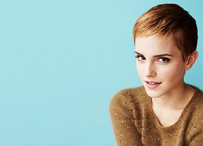 women, Emma Watson, simple background - random desktop wallpaper