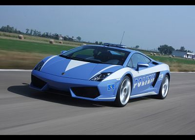 cars, police, vehicles, Lamborghini Gallardo, italian cars - desktop wallpaper