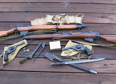 rifles, guns, weapons, enfield rifle no.4, wembley .38 - desktop wallpaper