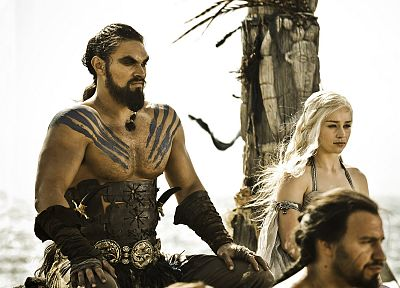Game of Thrones, TV series, Emilia Clarke, Jason Momoa, Dothraki - random desktop wallpaper