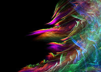abstract, paintings, multicolor, waves, rainbows - desktop wallpaper
