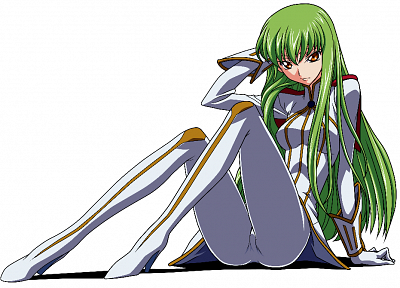 Code Geass, C.C., simple background - random desktop wallpaper