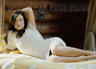 women, beds, models, Olivia Wilde - desktop wallpaper