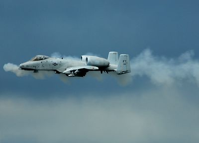 aircraft, military, planes, A-10 Thunderbolt II, skyscapes - desktop wallpaper