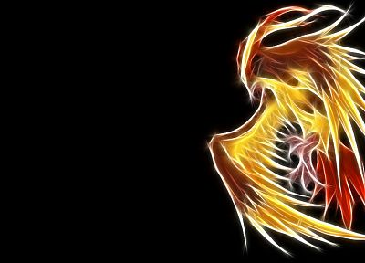 Pokemon, Pidgeot, black background - desktop wallpaper