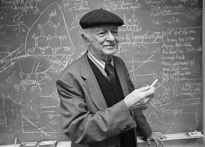 grayscale, monochrome, chalk, chalkboards, Linus Pauling - desktop wallpaper