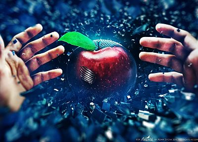 digital art, apples, Adam Spizak - random desktop wallpaper