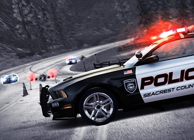 video games, cars, police, Maserati, vehicles, Ford Mustang, Need for Speed Hot Pursuit, pc games - desktop wallpaper