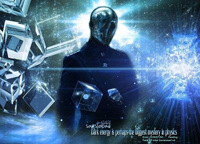 ice, Anonymous, outer space, dark, text, suit, design, energy, rage, artwork, mind, flare, space, photo manipulation, matter, mystic, mystical, cube, optical, forces, samstoobad - related desktop wallpaper