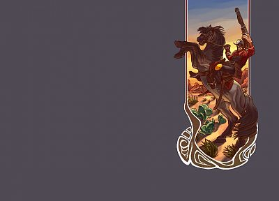 deserts, Engineer TF2, horses, cactus, Team Fortress 2 - related desktop wallpaper