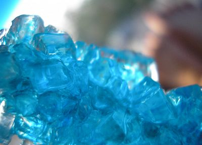 close-up, blue, macro, rock candy - desktop wallpaper