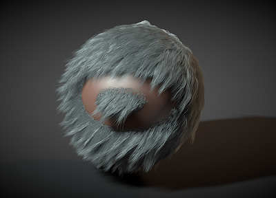 fur, 3D renders, Cinema4D, TagNotAllowedTooSubjective, gray hair, cinema 4d - desktop wallpaper
