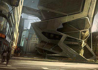 cityscapes, architecture, buildings, concept art, contemporary, artwork, Deus Ex: Human Revolution - desktop wallpaper