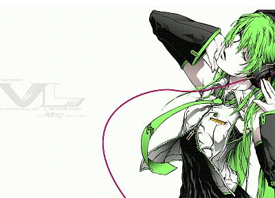 Vocaloid, Hatsune Miku, green hair, anime girls, detached sleeves, Hatsune Miku VN02 Mix - random desktop wallpaper