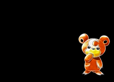 Pokemon, teddiursa, black background - desktop wallpaper