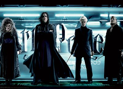 Harry Potter, Harry Potter and the Half Blood Prince, Draco Malfoy, Severus Snape, Bellatrix Lestrange, Fenrir Greyback, David Legeno, Death Eaters - random desktop wallpaper