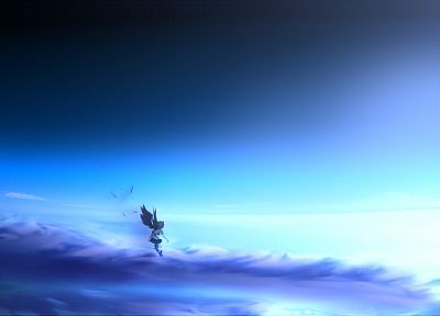 Touhou, wings, Shameimaru Aya, skyscapes, anime girls, tengu, geta - desktop wallpaper