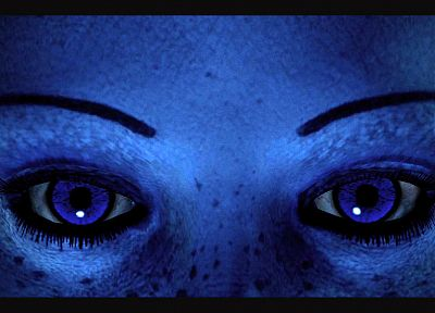 close-up, blue, eyes, blue eyes, Mass Effect, doctor, freckles, eyebrows, Asari, Liara TSoni - related desktop wallpaper