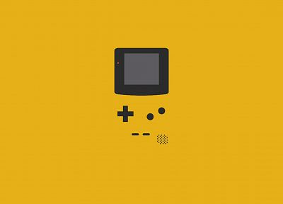 minimalistic, yellow, vectors, Gameboy - desktop wallpaper