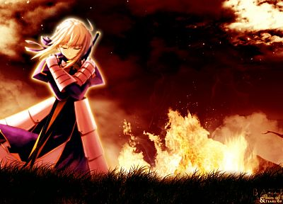 Fate/Stay Night, Saber, Fate series, Shingo (Missing Link) - random desktop wallpaper