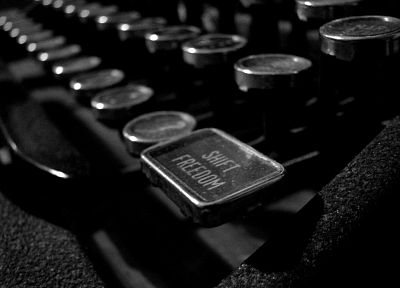 keyboards, grayscale, monochrome, typewriters - related desktop wallpaper
