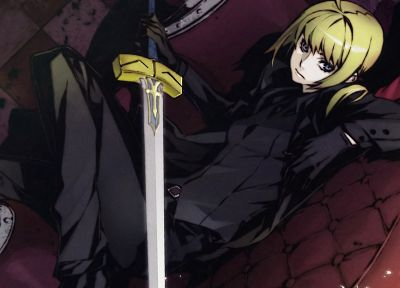blondes, Fate/Stay Night, weapons, Saber, Fate/Zero, anime girls, swords, Fate series - desktop wallpaper