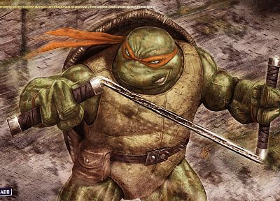 Teenage Mutant Ninja Turtles, realistic, Michaelangelo - random desktop wallpaper