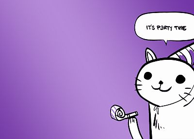 party cat - desktop wallpaper
